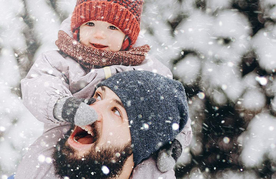 Trockene Winterhaut