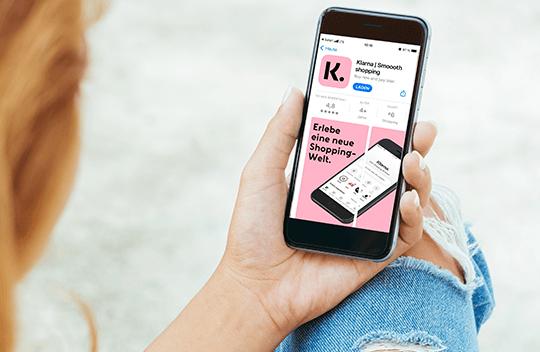 """<center>Einfache Handhabung mit der <a href=""""https://app.klarna.com/login"""" target=_blank>Klarna App</a></center>"""